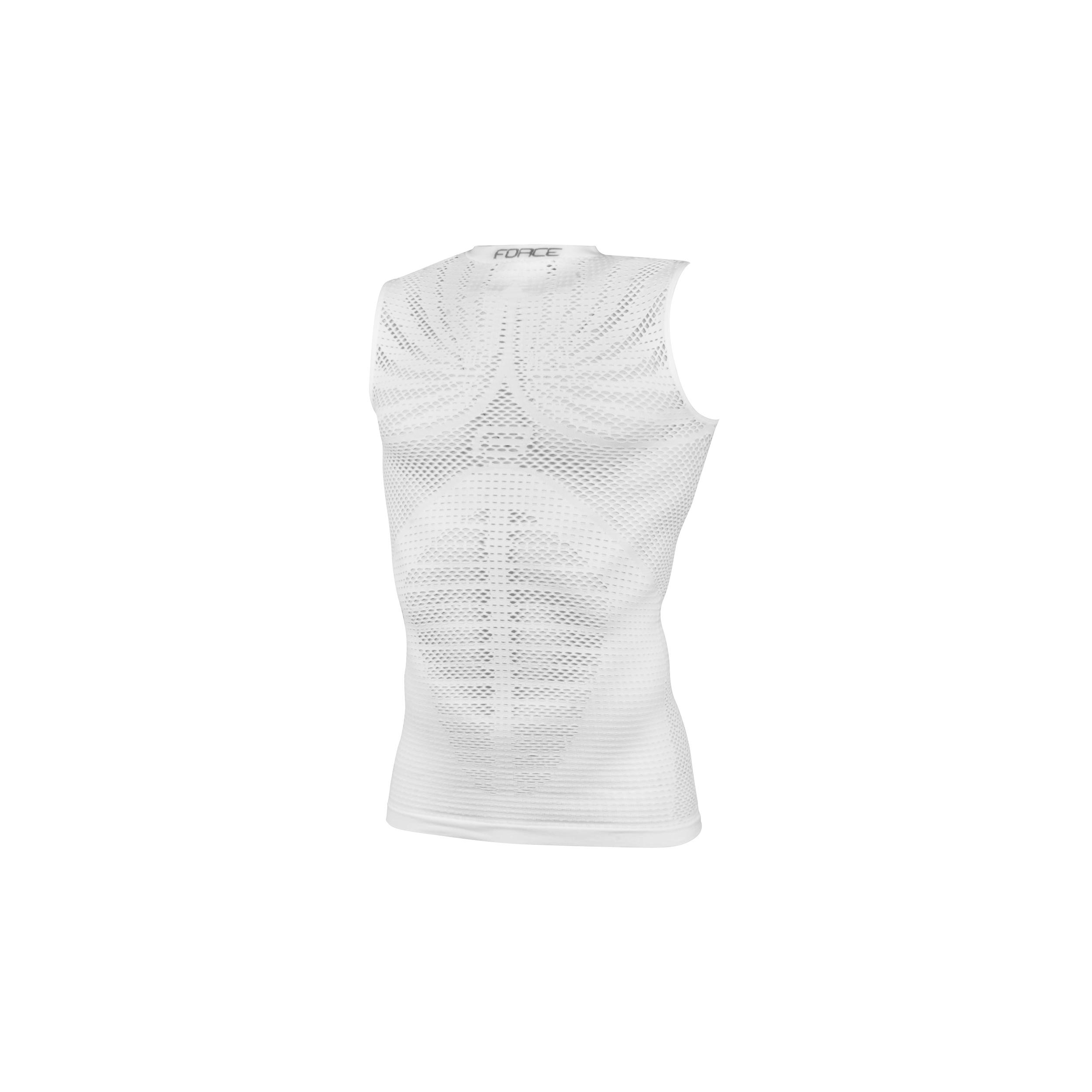 Triko/Funkční prádlo FORCE TROPIC bez rukávů, bílé S-M