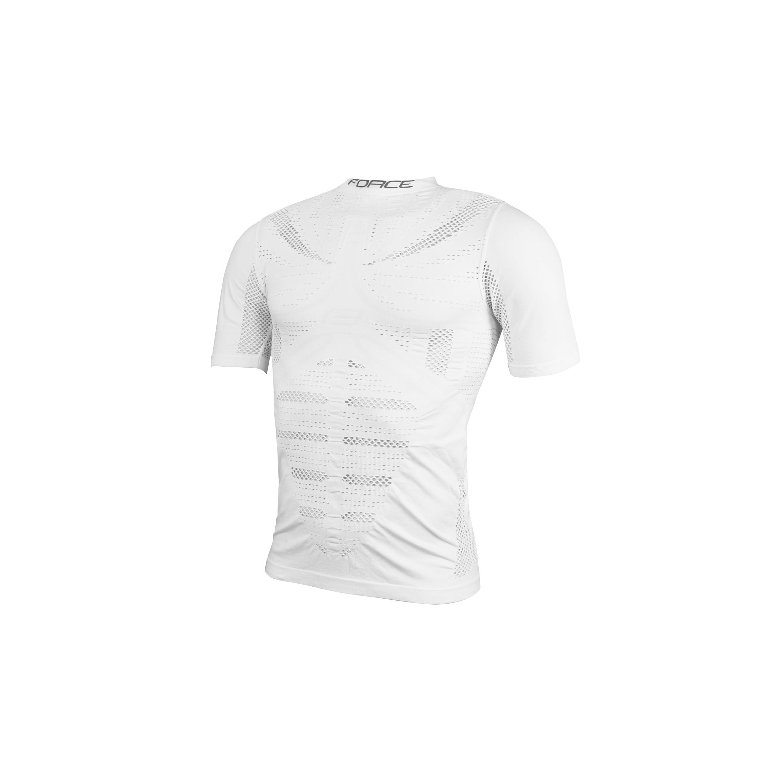 Triko/Funkční prádlo FORCE WIND krátký rukáv, bílé L-XL