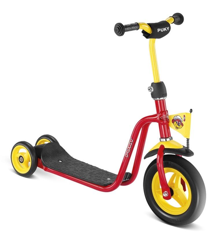 PUKY R 1 RED scooter, koloběžka červená - ZDARMA dopravné a reflexní vesta (barva červená - dle vyobrazení)