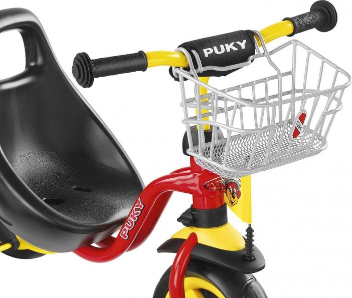 Košík na řidítka přední PUKY stříbrný (Určen pro tříkolky a koloběžky značky PUKY)