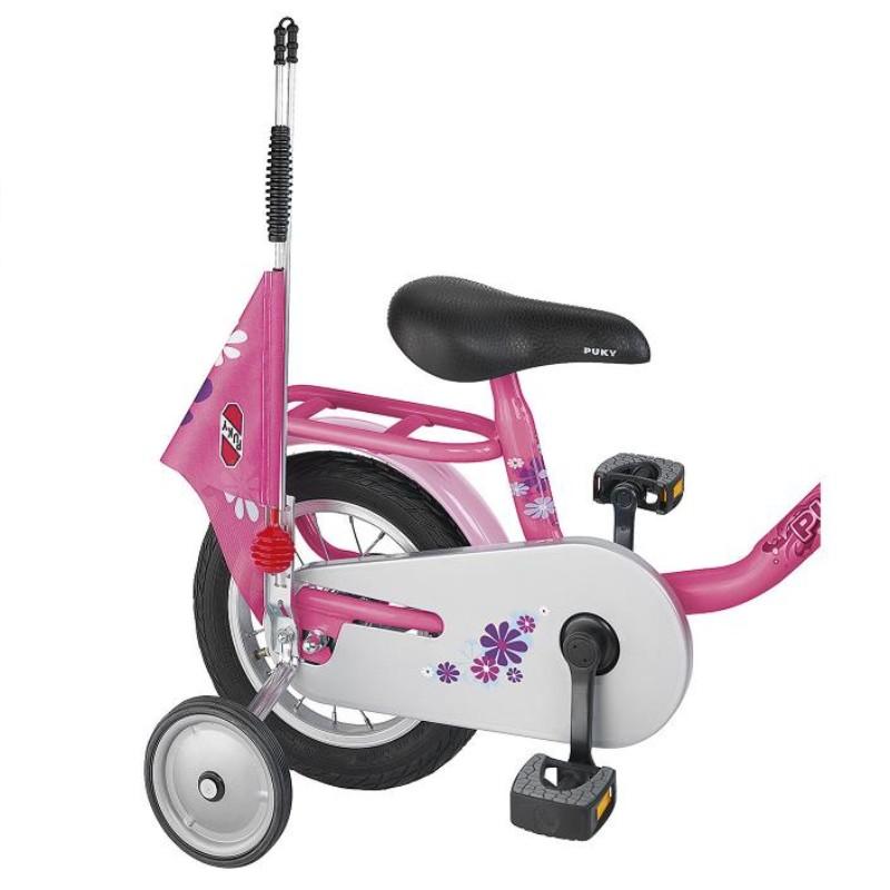 Puky bezpečnostní vlaječka - praporek, barva růžová (Pro jízdní kola a koloběžky zn. Puky.)