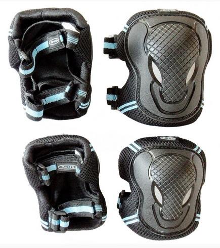 Chrániče kolen a loktů Micro - vel. L, černo-modré (chrániče kolen a loktů MICRO)