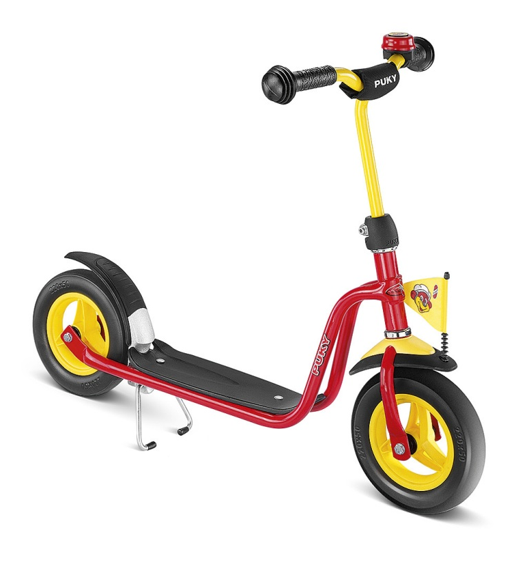 PUKY R 03 RED, koloběžka červená - ZDARMA dopravné a reflexní vesta (barva červená - dle vyobrazení, scooter)