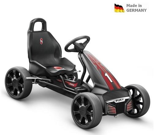 Dětská šlapací kára Puky Go Cart F 550 černá -ZDARMA dopravné a lahev (od 4 let a cca 105 cm, barva černo-červená)