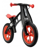 """Odrážedlo FIRST Bike """"Limited edition-orange"""" - ZDARMA dopravné, košík a zvonek (varianta s ruční brzdou, barva červeno-černá)"""