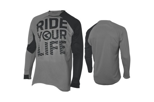 Enduro dres KELLYS RIDE YOUR LIFE dlouhý rukáv grey - XL