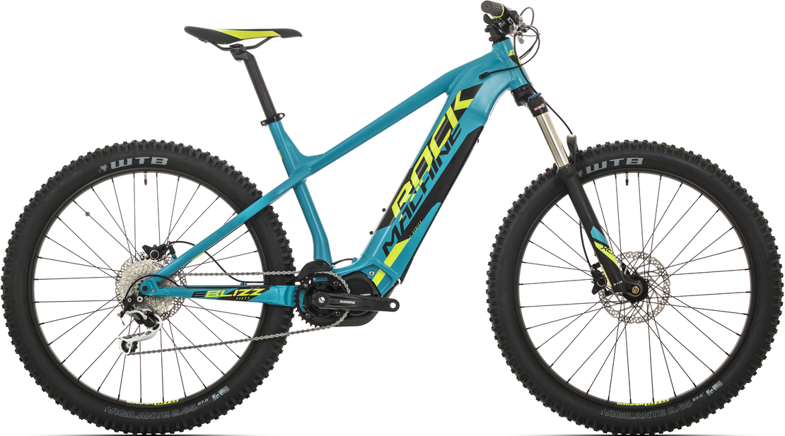 Elektrokolo Rock Machine Blizz INT e50-27+ (M) 2019 mat petrol blue/radioactive yellow/black