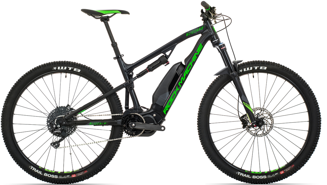 Elektrokolo Rock Machine Blizzard e50-29 (M) 2019 mat black/neon green/dark grey