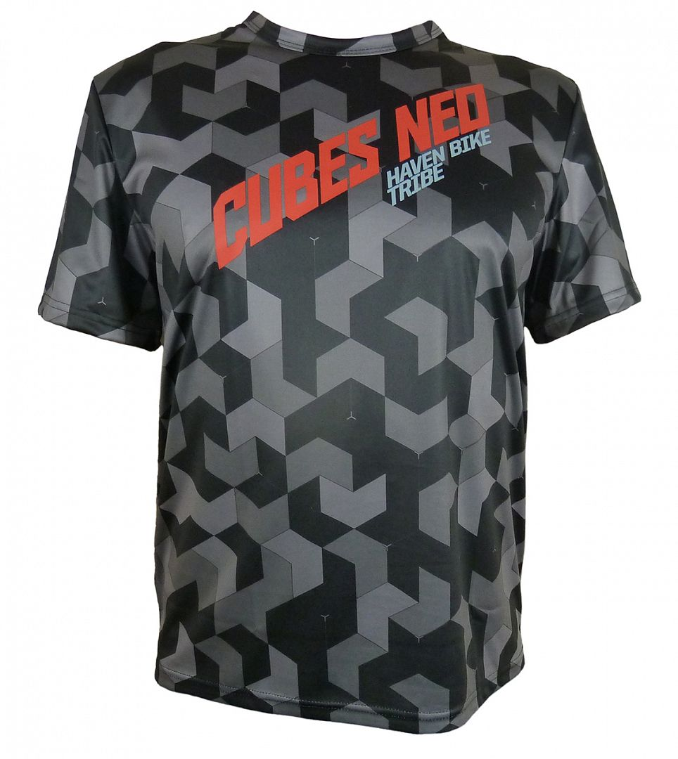 Volný dres HAVEN CUBES NEO black/red, vel. S