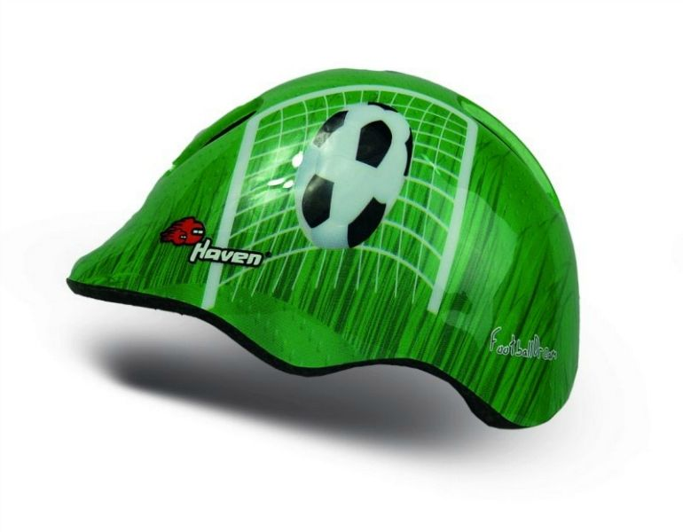 Dětská přilba HAVEN DREAM green football, vel. XS