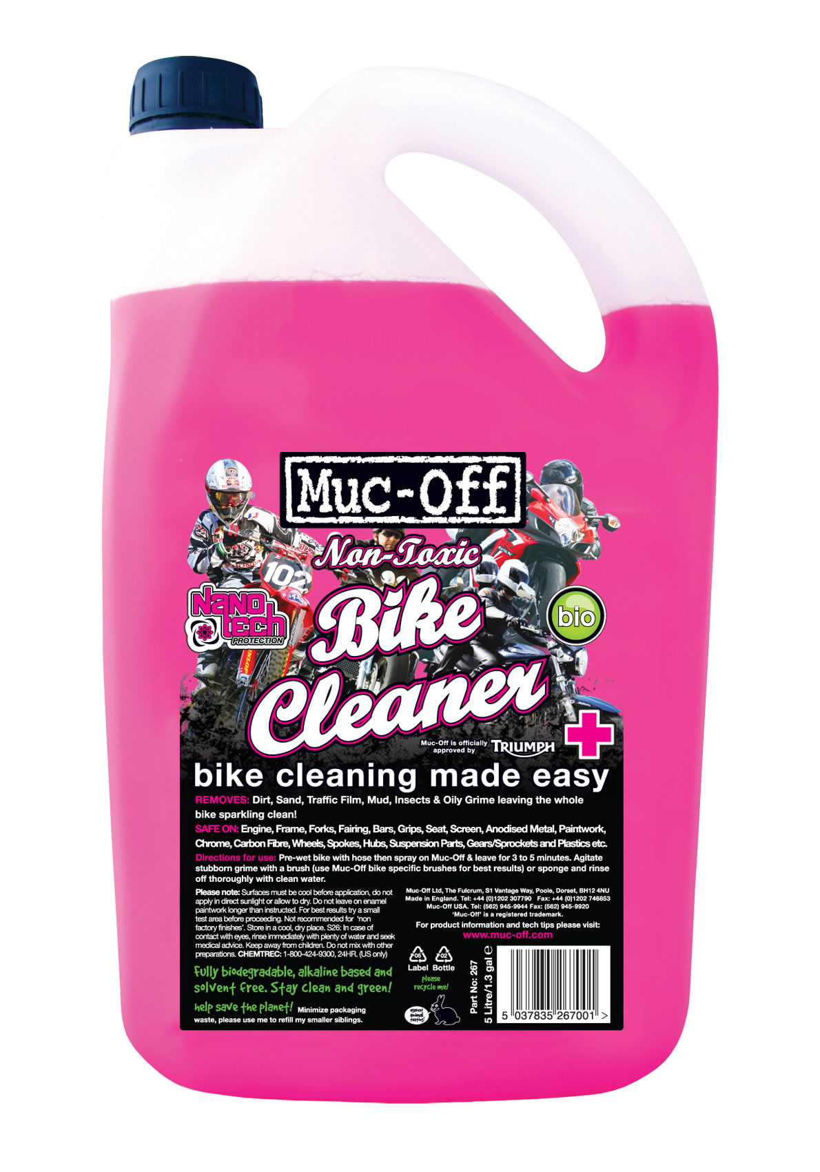 Muc-Off Nano Tech Bike Cleaner 5L