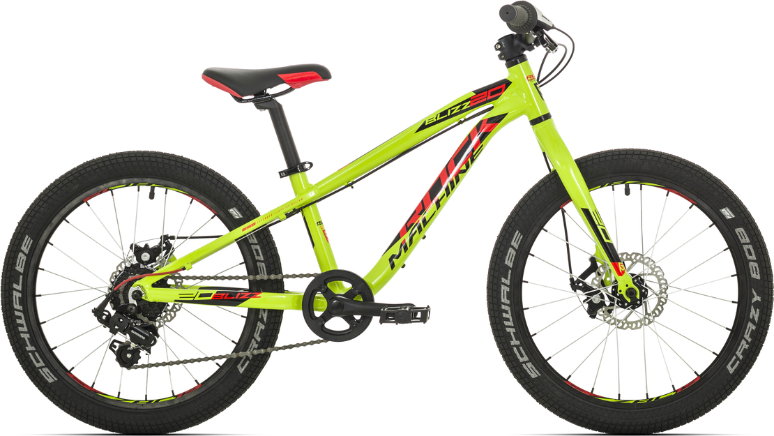 "Rock Machine Blizz 20"" 2019 radioactive yellow/neon red/black"