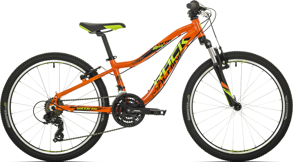 "Rock Machine Storm 24"" VB 2018 orange/radioactive yellow/black"