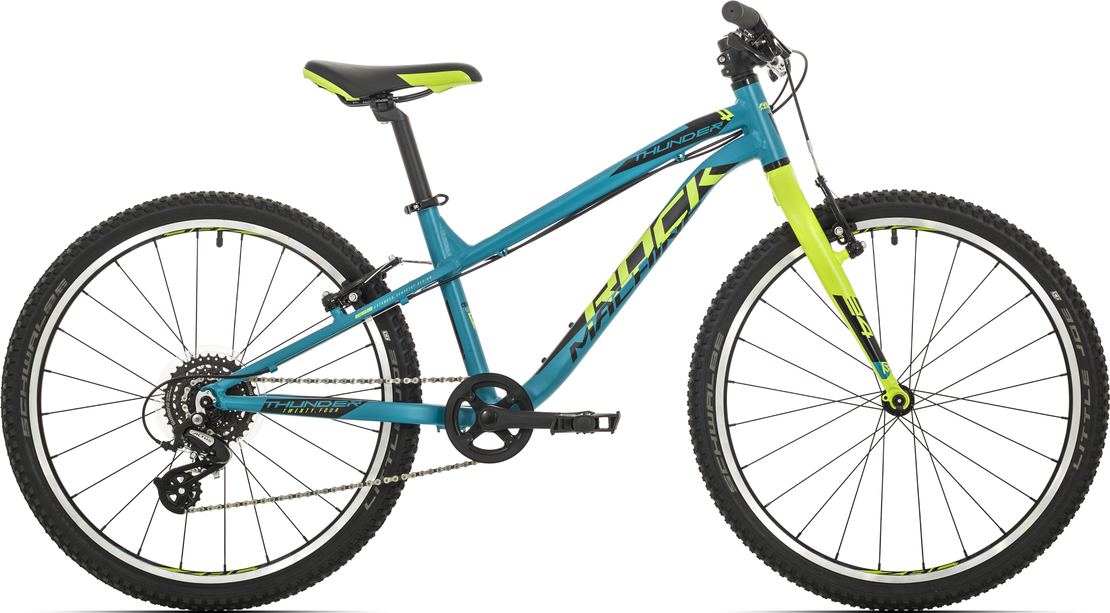 "Rock Machine Thunder 24"" 2020 petrol blue/radioactive yellow/black"
