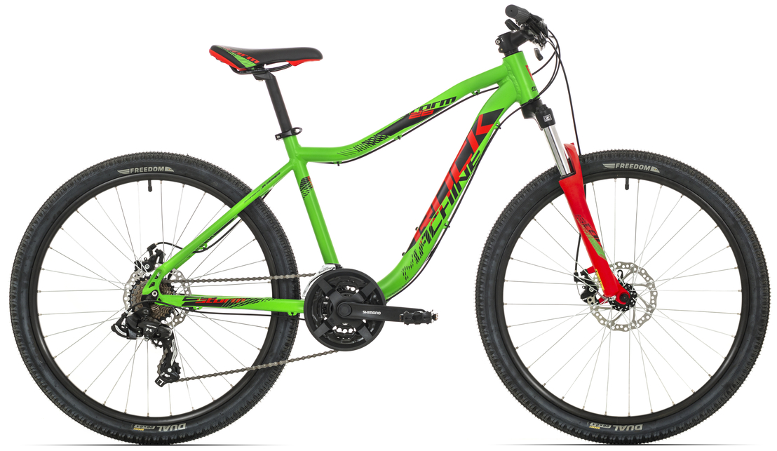 "Rock Machine Storm 26"" 2018, rám 14"" (XS) neon green/neon red/black"