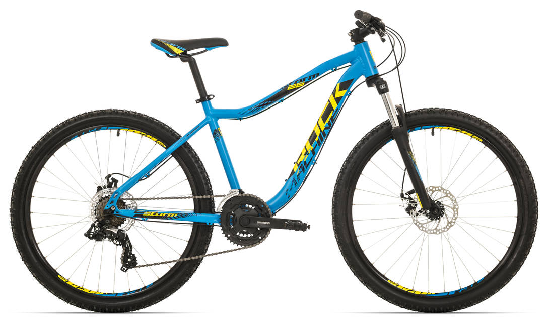 "Rock Machine Storm 26"" 2018, rám 16,5"" (S) matte blue/team yellow/black"