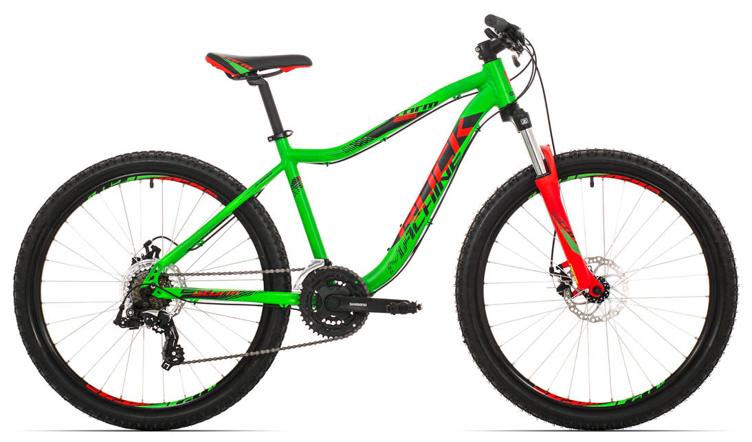 "Rock Machine Storm 26"" 2018, rám 16,5"" (S) neon green/neon red/black"
