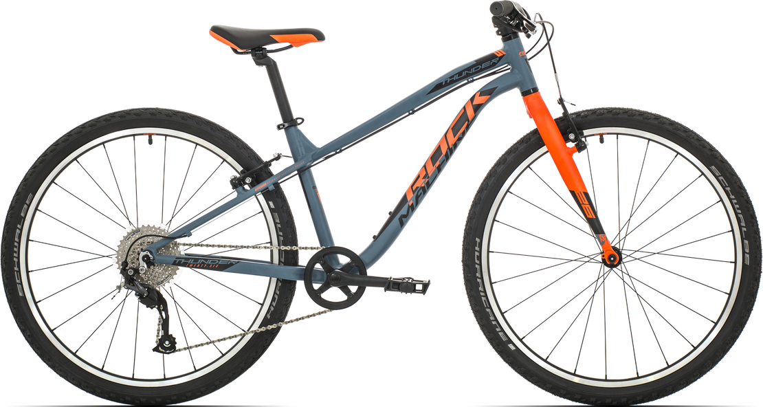 "Rock Machine Thunder 26"" 2019, rám 14"" (XS) slate grey/neon orange/black"