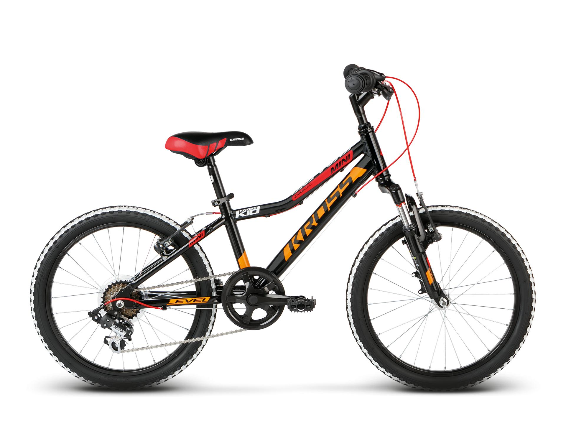 "KROSS 20"" LEVEL Mini Alu 2018 black/red/orange glossy"