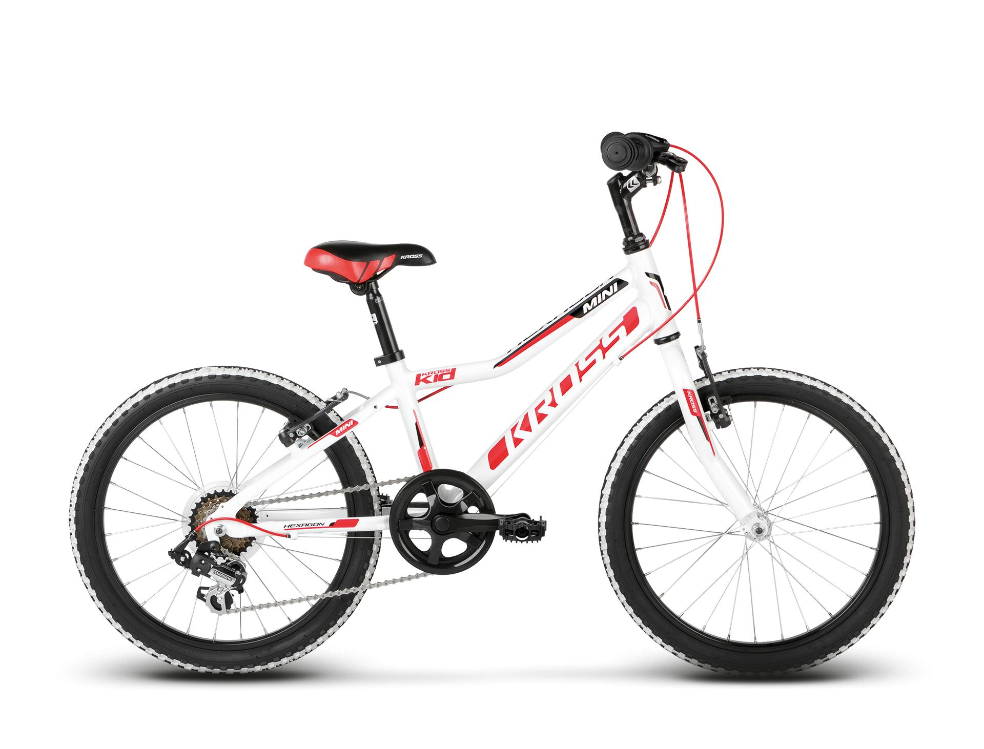 "KROSS 20"" HEXAGON Mini Alu 2018 white/red/black glossy"