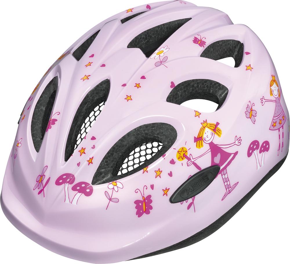 """Dětská cyklistická přilba / helma ABUS Smiley Princess Pink (Velikost """"M"""" pro obvod hlavy 50-55 cm, barva růžová) - 2013"""